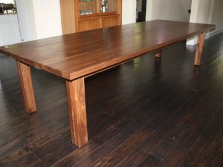Solid Black Walnut Dining Room Table