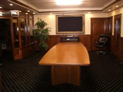 custom solid cherry wood conference room table