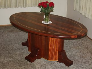 Solid African mahogany wood Dining Room Table