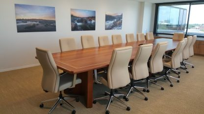 18 Solid Sapele wood conference table