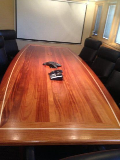 Solid African mahogany wood conference table