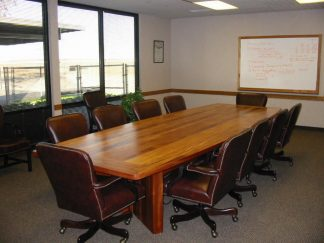 African mahogany conference table