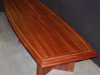 solid sapele wood conference room table