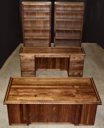 Black Walnut Executive Desk Suite