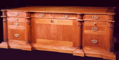 Solid Mahogany Executive hand carved Judges Desk