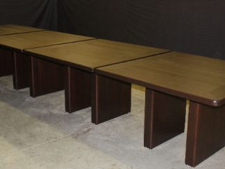 Custom Solid Cherry Wood 4 section conference tables