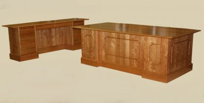 Cherry Executive Desk and Credenza
