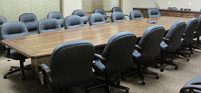 Black walnut hardwood conference table
