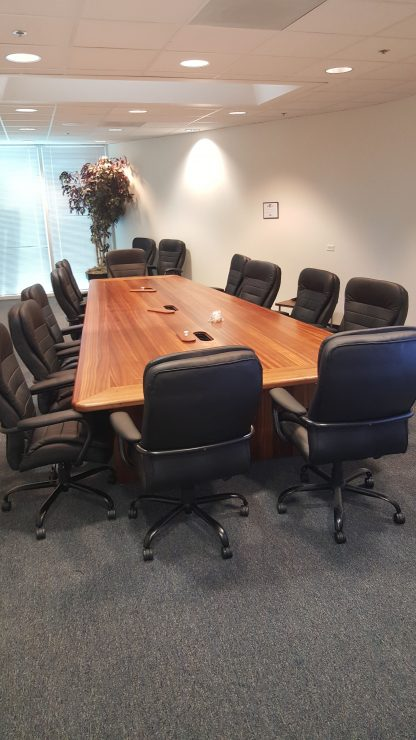 Fox-1 Sapele wood conference table