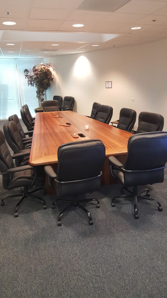 Specialty Woods Sapele wood conference table