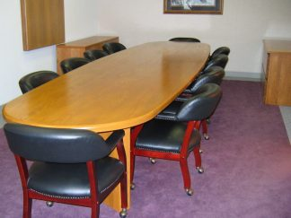 solid red oak conference table