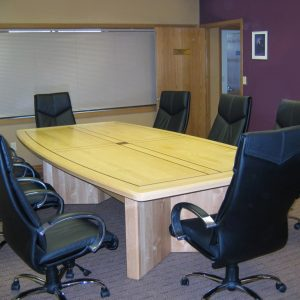Law Firm Litigation maple wood conference table