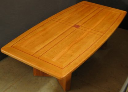 Solid Cherry Wood Conference Table custom built for a Judge by Specialty Woods