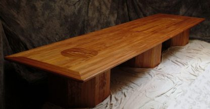 Large solid mahogany conference table