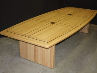 Law office maple wood conference room table