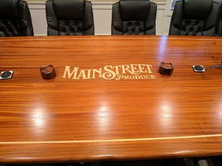 Custom built Sapele wood conference table