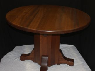 Personal office table- Small Sapele wood round conference table