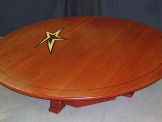 Custom solid African mahogany wood conference table
