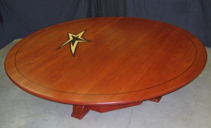 solid African mahogany wood conference room table-Sports Ministry conference table