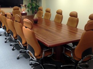 Twin Focus Conference Table and Matching Credenzas