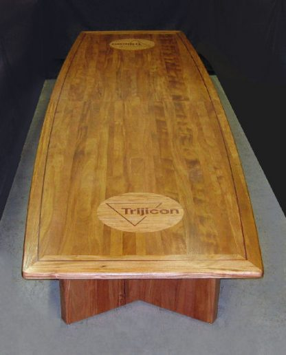 Trijicon Boardroom Conference Table by Specialty Woods mahogany tables