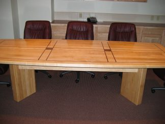 Law office- custom built solid maple wood conference