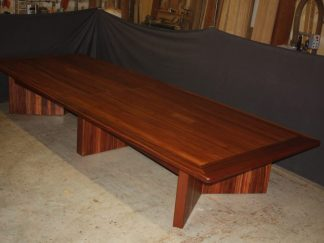 Solid mahogany conference room table