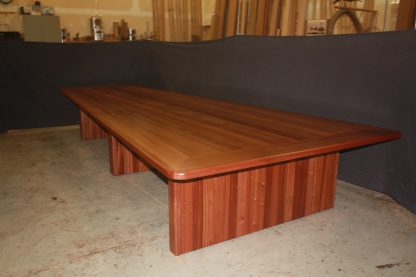 Fox news sapele wood conference table