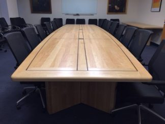solid maple wood conference room table