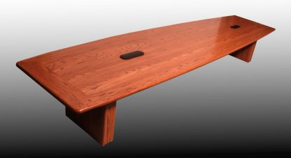 City Hall solid red oak conference table