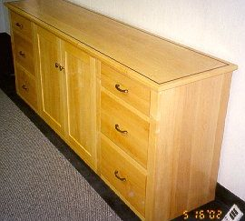 tristar maple wood credenza 3