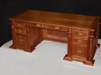 African mahogany hand carved Executive Judges Desk # 2