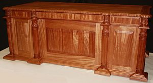 African mahogany hand carved Executive Judges Desk #1