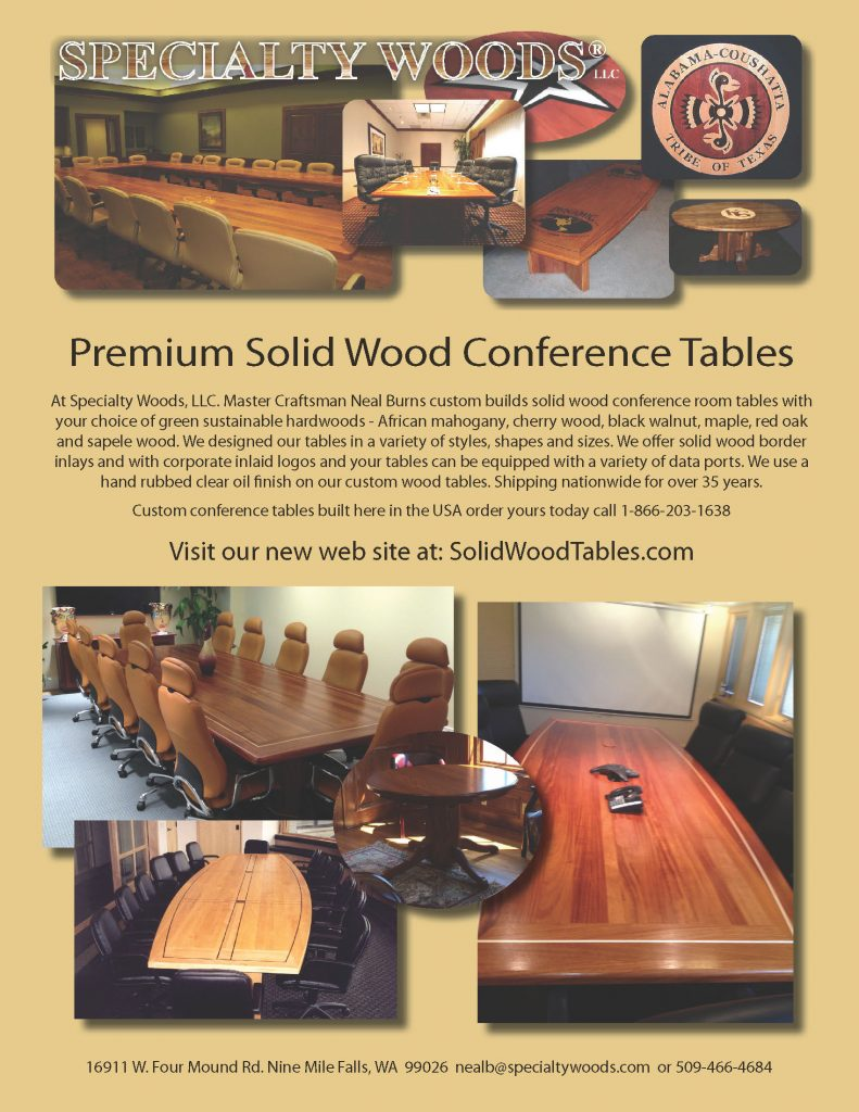 Specialty Woods Flyer Custom Conference Tables