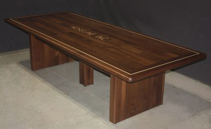 Black walnut conference table