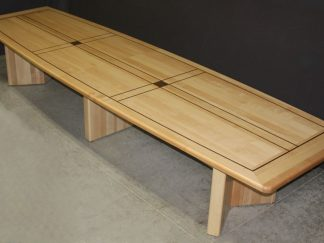 Custom solid maple wood conference table