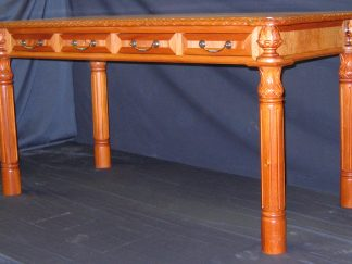 BC Honduras hand carved Partners Desk