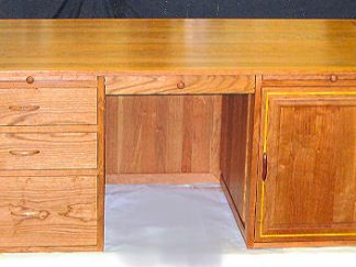 custom made cherry wood executive editor's desk