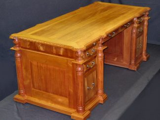 Executive Desk Hand Carved Honduras BC by Specialty Woods