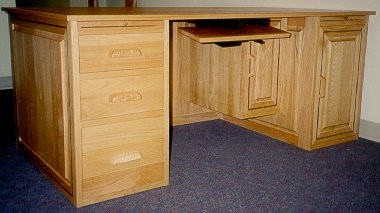 Custom solid red oak Lady Executive Desk