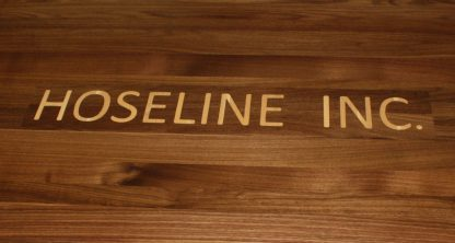 Black Walnut Conference Table - Pipeline logo by Specialty Woods