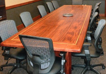 Sapele Table Premium natural wood conference table made to order & reasonable pricing